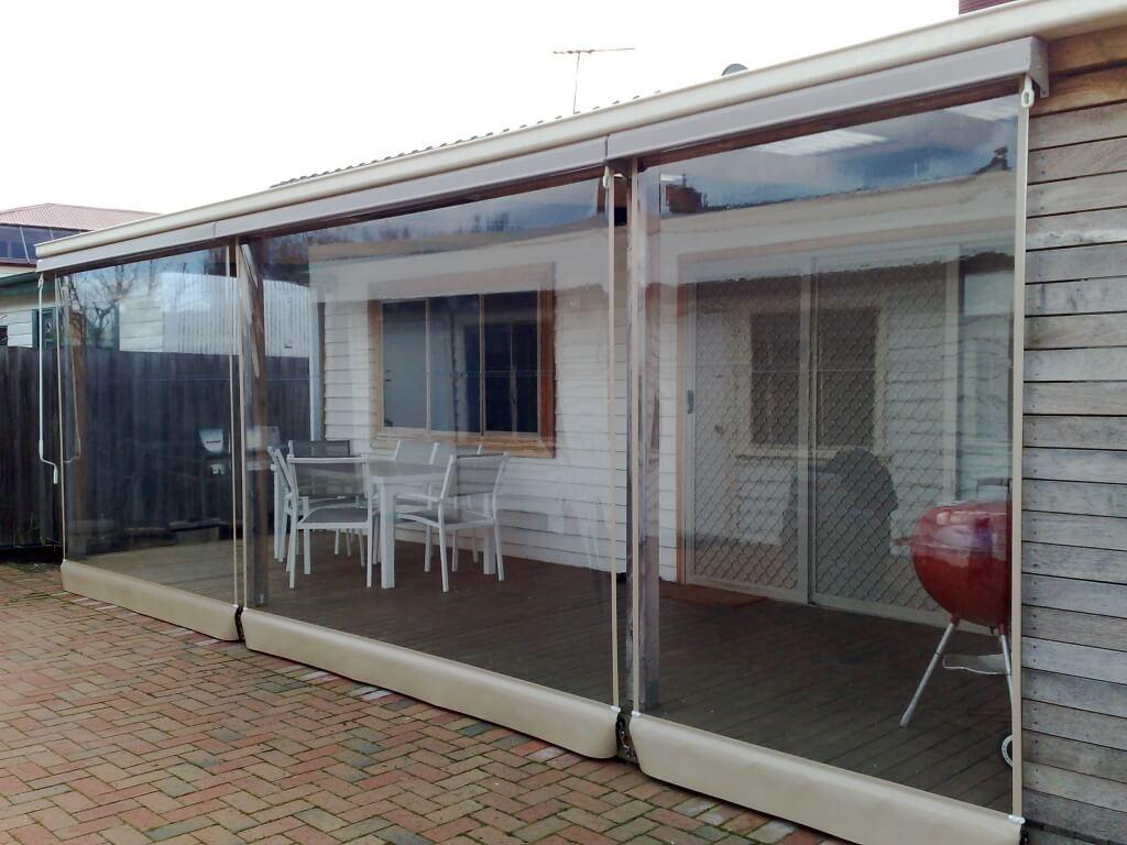 cafe blinds melbourne outdoor clear pvc blinds euroblinds. Black Bedroom Furniture Sets. Home Design Ideas
