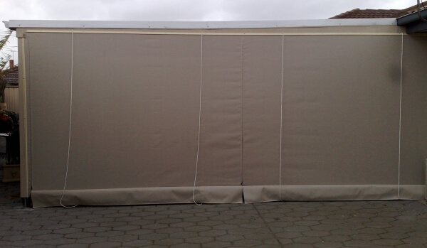 Patio Blinds With Zips