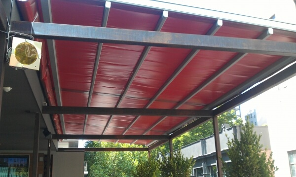 Closed Retractable Roof System
