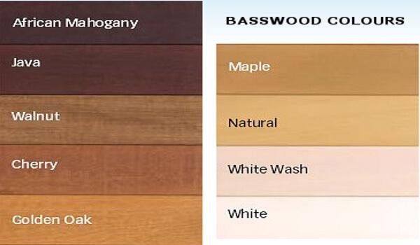 basswood venetian colours