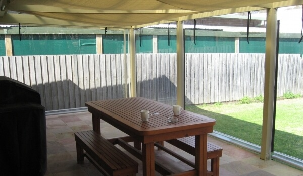 Clear PVC Rollup Patio Blinds
