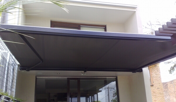 Full-Cassette Retractable Awning Open