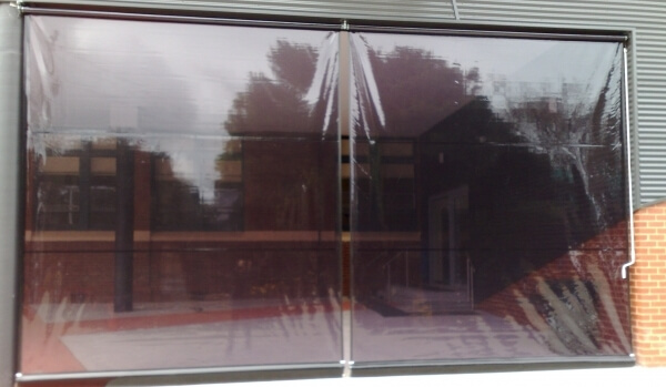 Tinted PVC Cafe Blinds