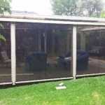 tinted alfresco outdoor blinds melbourne