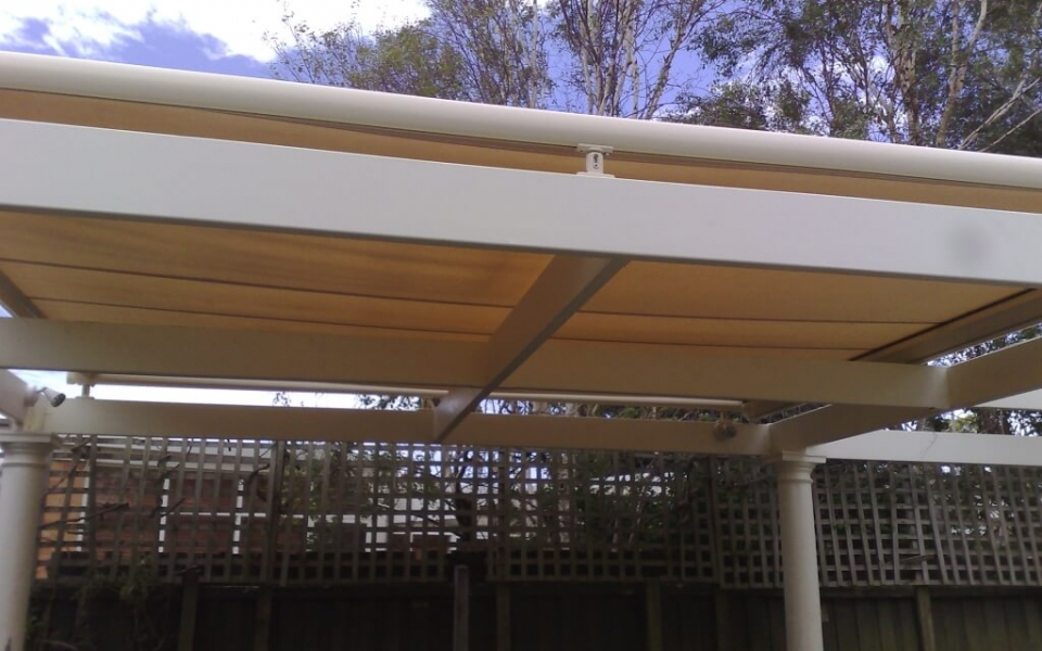 SUNROOF AWNING OVER PERGOLA